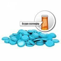 Crown Caps Oxygen Scavenging Light Blue 100 Pack