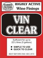 Harris Vin Clear Dry Finings