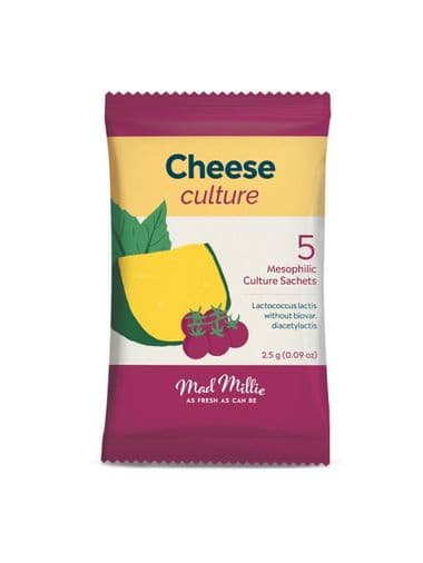 Mad Millie Cheese Culture 5 Pack (cultures 4 litres of milk per pack)