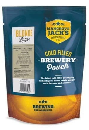 Mangrove Jack's Traditional Series Blonde Lager 1.5 Kg Pouch
